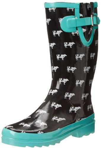 Western Chief Women's Cow Crossing Rain Boot - http://www ...