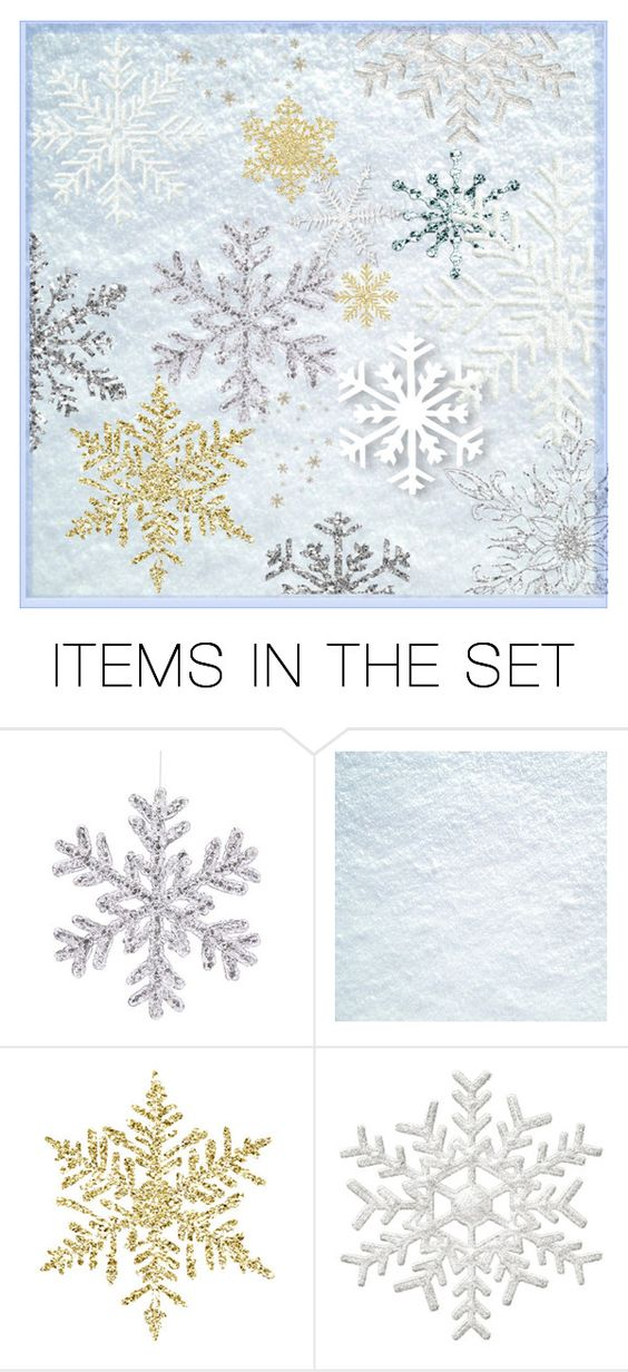 """""""Snowflakes"""" by bambi-52 ❤ liked on Polyvore featuring art"""