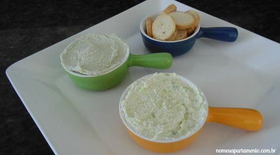 Pasta aperitivo de gorgonzola e alho poró #nomeuapartamento