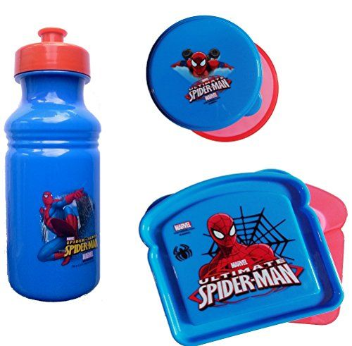 Spider-Man Lunch Set for Kids @ niftywarehouse.com #NiftyWarehouse #Spiderman #Marvel #ComicBooks #TheAvengers #Avengers #Comics