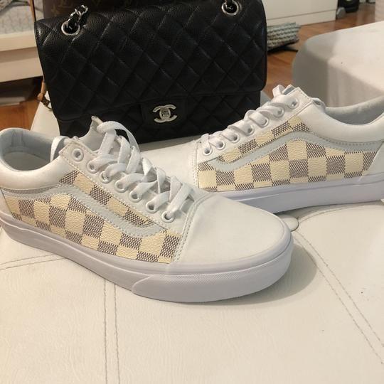 Checkered LV Damier Vans Old Skool | Custom sneakers vans, Vans ...