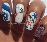 DIY 4th of July Nails - The Most American Nail Art Ever