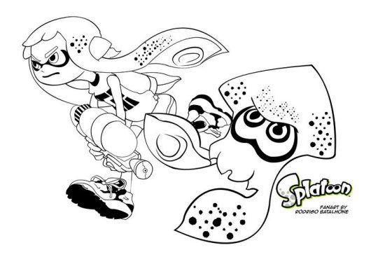 Splatoon Coloring Pages Coloring Pages Coloriage Image
