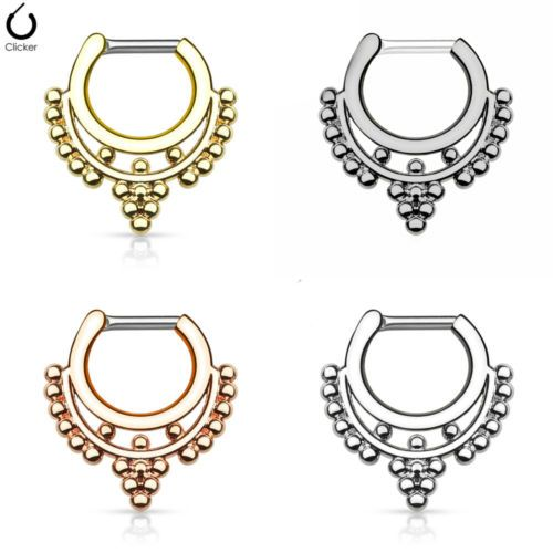 1pc-Beaded-Collar-Septum-Clicker-316L-Surgical-Steel-14-or-16g-Nose-Ring