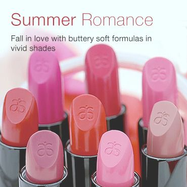 Summer Romance, Fall in love with buttery soft formulas in vivid shades. Sublime lips start with our moisturizing formula that smooths on long-wearing, luxurous colour. Infused with fruit extracts for lip-volumizing effects and to-the-max hydration. Smooth, satin-glossy finish.