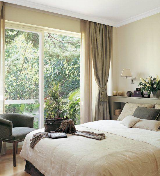 Dormitorio Con Ventanal Grande Dormitorio Con Ventanales Dormitorios Cortinas Para Habitacion