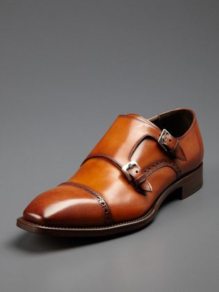 Black Cobden Monkstraps | Products, Mens products and McQueen