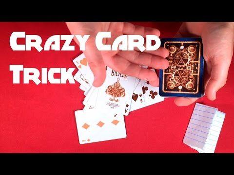 Crazy Mind Reading Card Trick Tutorial Card Tricks Easy Card Tricks Learn Magic