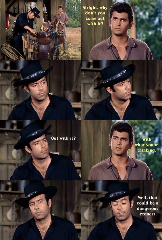Little Joe is smitten with the daughter of a confederate sympathizer, and Adam disapproves, which Joe senses. From The War Comes to Washoe (Bonanza)