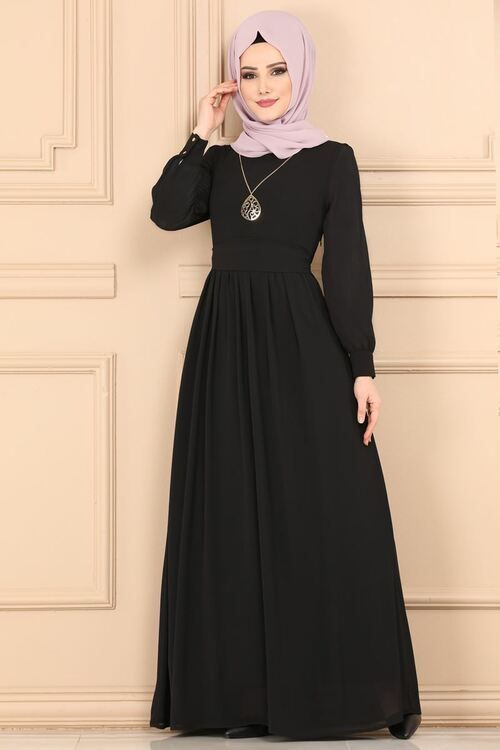 Modaselvim Elbise Kemerli Tesettur Elbise 3687 2mb205 Siyah Moda Stilleri Elbiseler The Dress