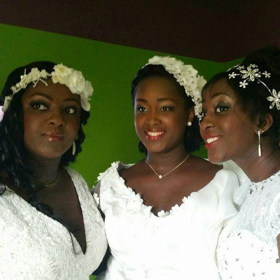 Les soeur Ncho, de gauche à droite: Laetitia (Miss Côte d'Ivoire 1998), Tania (2eme Dauphine Miss Côte d'Ivoire 2008) et Laurielle
