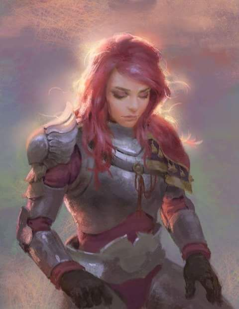 Fantasy Red Hair Art