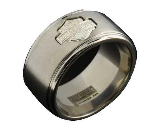 Stamper Harley Davidson Wedding Rings