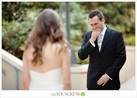 every girl deserves to have this reaction on her wedding day..