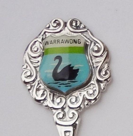 Collector Souvenir Spoon Australia New South Wales Warrawong Black Swan