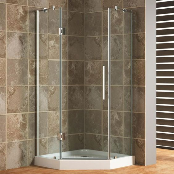 "36"" x 36"" Frameless Neo-Angle Corner Shower Enclosure - Bathroom"