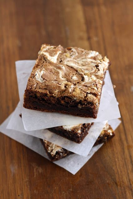 S'mores Swirl Brownies:
