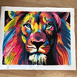 Paint By Numbers DIY Kit Frameless Colorful Lion Home Decor Digital Painting Art
