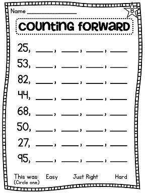 Worksheets Counting On Worksheets common worksheets counting numbers for 1st grade first math unit 1 number