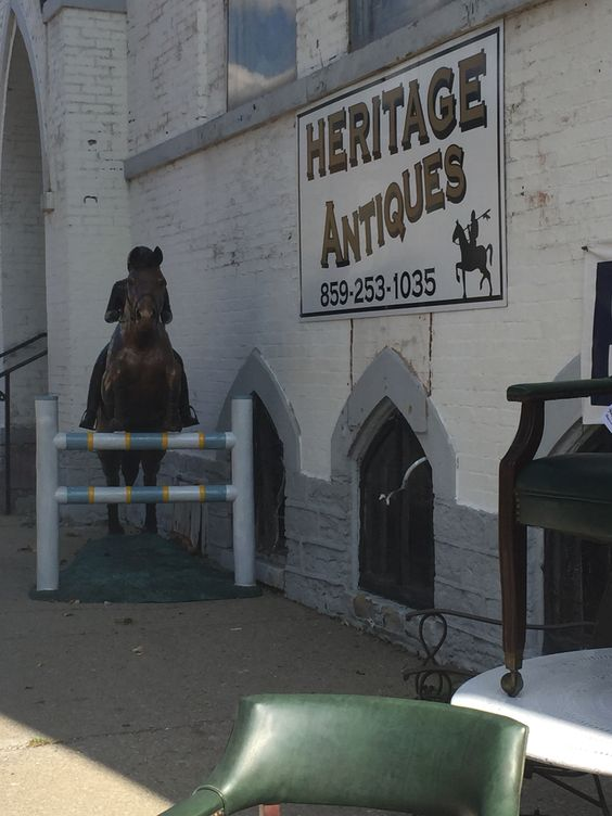I traveled to downtown Lexington to explore a little. Here I found Heritage Antique shop. Inside I found history after history. How can so much historical artifacts and stories that go along with them fit in one building? How did they get here in Lexington? Also, inside the owner makes custom derby hats for Keenland and other races! And that time is slowly approaching.
