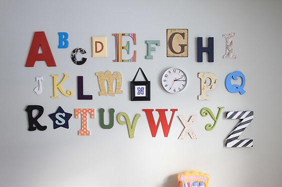 Letter Wall Decor Hobby Lobby : The alphabet abc wall and on