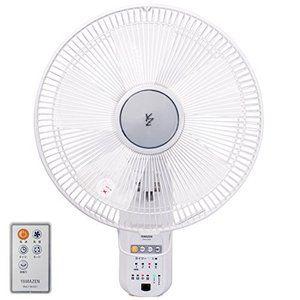 山善 30cm壁掛扇風機 リモコン 風量4段階 入切タイマー付 ホワイト Ywx K304 W 扇風機 山善