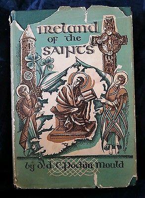 Vintage 1st Edition Ireland of the Saints, DDC Pochin Mould  1953 HCDJ  RARE