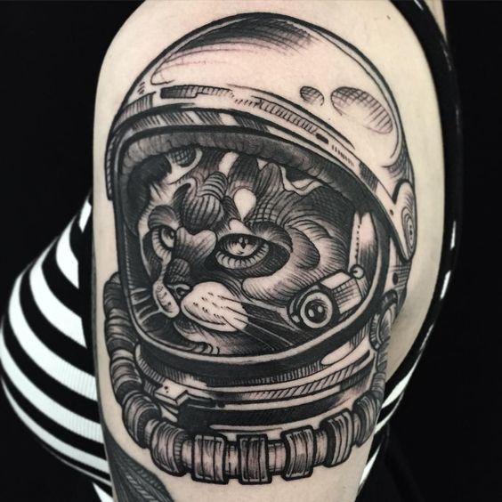 """Spacecat done! Thanks @wearethelivingend #tattoo #cologne #tattoocologne #colognetattoo #köln #kölntattoo #tattooköln #kölle #kölnergram #germantattooers…"""