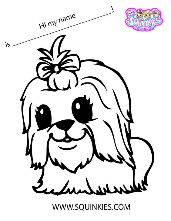 squinkies coloring pages online - photo#2