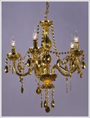 Gold Acrylic Antique French Chandelier