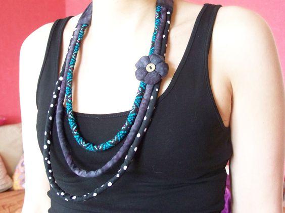 expertes-custo-couture - Pas à pas collier impression motif fantaisie et lien en tissus