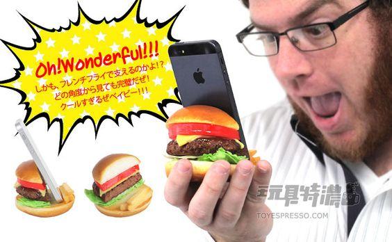 HAMEE 激似實品!食物樣品智慧手機立架