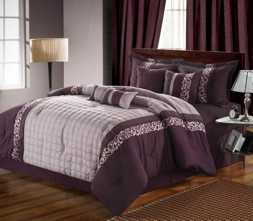 Chic Home 8-Piece Glendale Embroidered Comforter Set, Queen, Plum/Purple Chic Home http://www.amazon.com/dp/B009RG831G/ref=cm_sw_r_pi_dp_EsbWtb1VBKA2BYXY