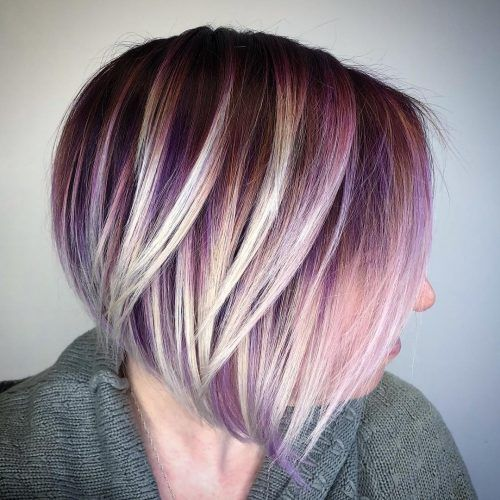 34 Sweetest Caramel Highlights On Light Dark Brown Hair Purple Blonde Hair Purple Highlights Blonde Hair Blonde Hair With Highlights