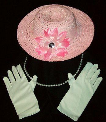 Hat Gloves Pearls Teen Ladies 6