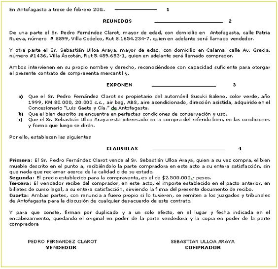 Contrato De Compraventa Estimatorio  Contratos De Compraventa