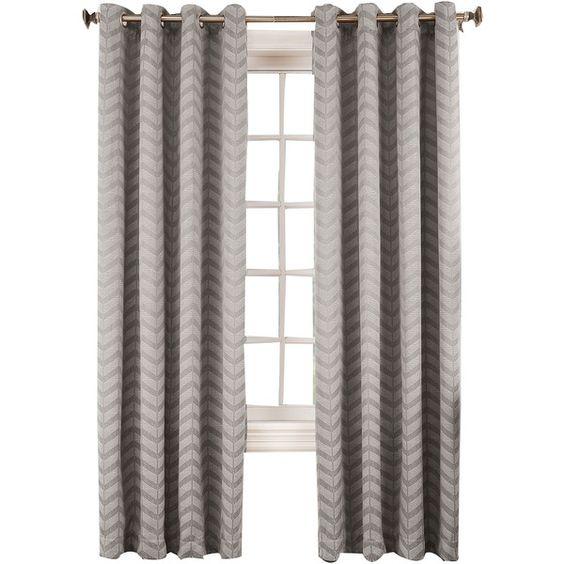 Sun Zero™ Cadiz Room-Darkening Grommet-Top Curtain Panel ($80) ❤ liked on Polyvore
