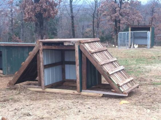 mmmm.... Interesting.... Goats would love this.  It would not work as a good winter shelter though and I am hoping for something that will look a little nicer as well