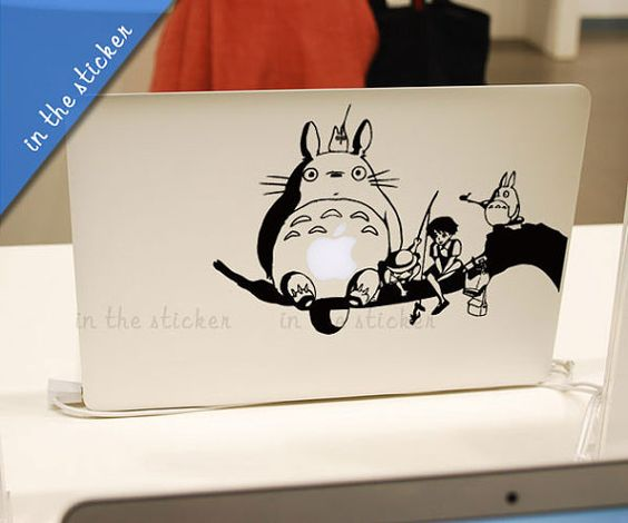 totoro Macbook Decals Macbook Stickers Mac Cover Skins Decal for Apple Laptop Macbook Pro Air/Uniboday Partial Skin  1187