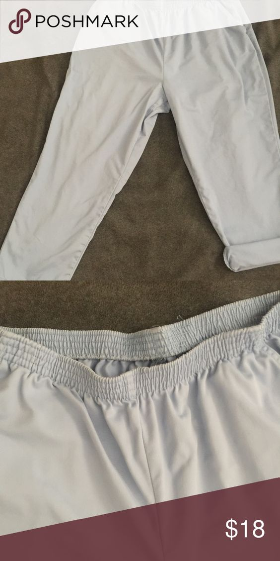 Pants Pastel blue pants. Elastic waistband. Pant legs can be cuffed. Front pockets.  22WP Pants