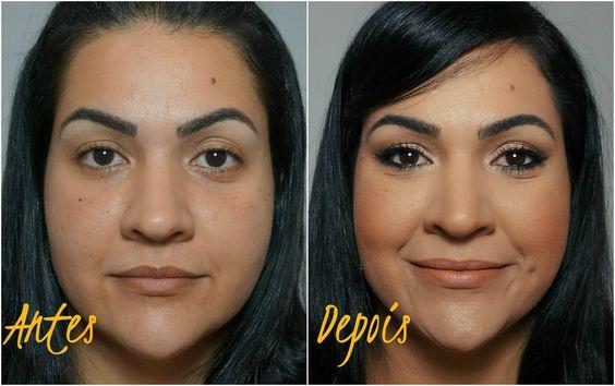 Maquiagem Simples Passo a Passo - Antes e Depois da Maquiagem