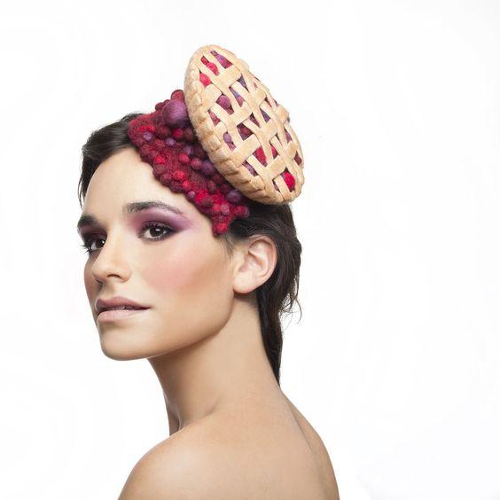 cranberries and raspberries cocktail hat, fascinator https://www.etsy.com/il-en/shop/MaorZabarHats?ref=si_shop