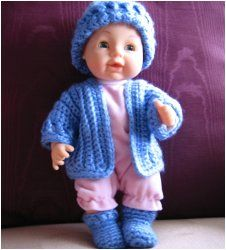 Free Knitting Patterns For 10 Inch Dolls Clothes : Crochet Doll Set Crochet dolls, Crochet and Crochet doll clothes