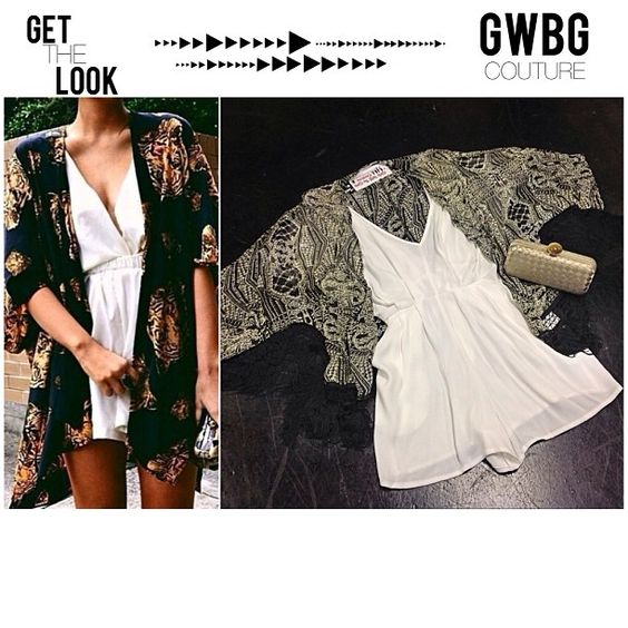 Get the look  #Fringe Kimono & White Flowy Romper with champagne weaved clutch ✨Text/call 305-610-1155 for pricing #girlswillbegirls #miamiboutique #ootd #gwbgcouture #fashion #style #marivillalobos #miamifashion #gwbgcouture #gtl #getthelook #pinterestoutfit #ootd #ootn #kimono #fallfashion #fall2013