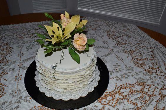 - Ruffle cake