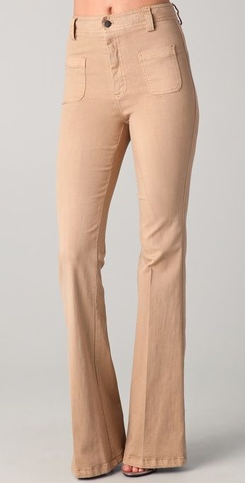 Alice + Olivia High Waisted Bell Jeans thestylecure.com