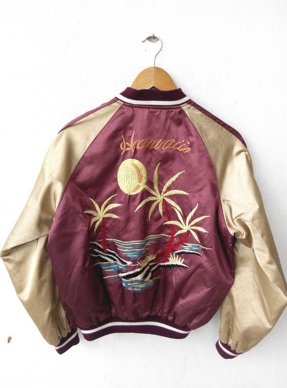 1990's Sukajan Jacket, reversible Eagle / Hawaii CaptClothingVintage: