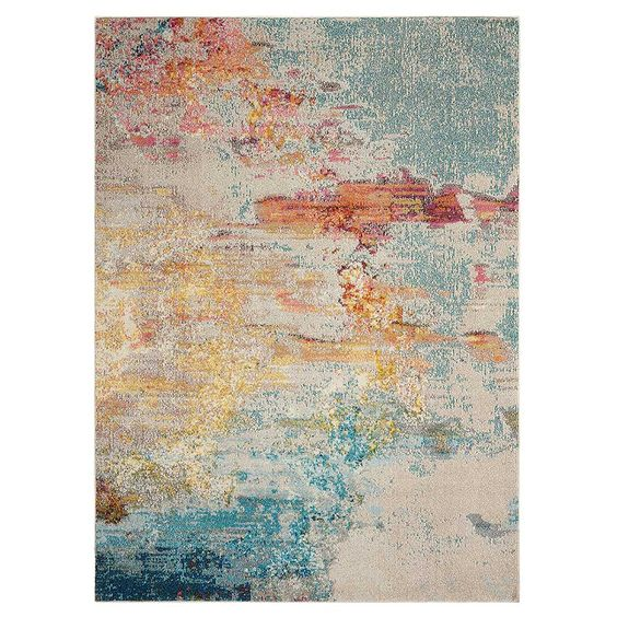 The Celestial Sealf Rug will make an interesting focal point in your living room.