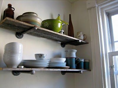 cool open shelving supports
