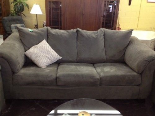 Grey Suede Sofa Best Collections Of Sofas And Couches